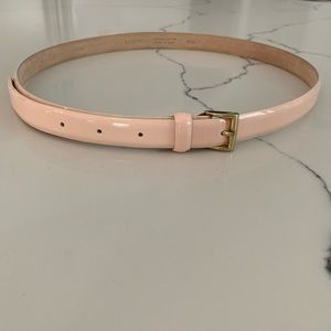 Blush Patent Leather J. Crew Belt